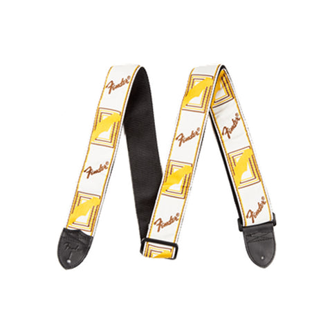 Fender WHITE/BROWN/YELLOW MONO STRAP F-0990683000 - L.A. Music - Canada's Favourite Music Store!