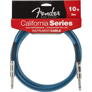 Fender 10' CALIFORNIA INSTRUMENT CABLE LAKE PLACID BLUE F-0990510002 - L.A. Music - Canada's Favourite Music Store!