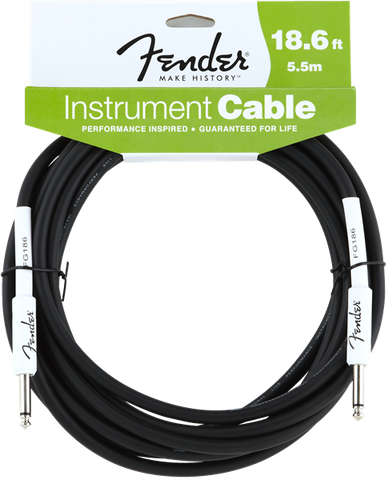 Fender 18.6' INSTRUMENT CABLE BLACK F-0990820007