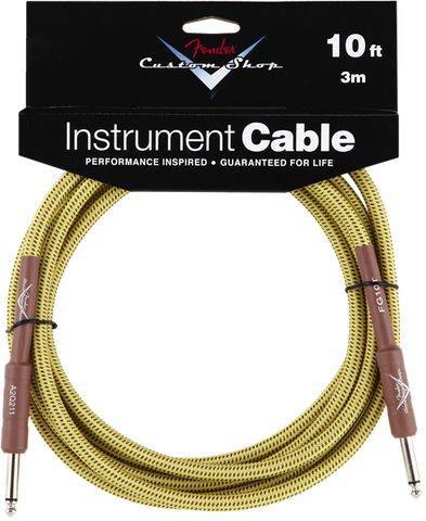Fender CUSTOM SHOP 10' INSTRUMENT CABLE TWEED F-0990820028