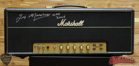 Marshall 100 Watt Plexi Valve Super Lead Head 1959SLP Signed by Jim Marshall 2006 - L.A. Music - Canada's Favourite Music Store!