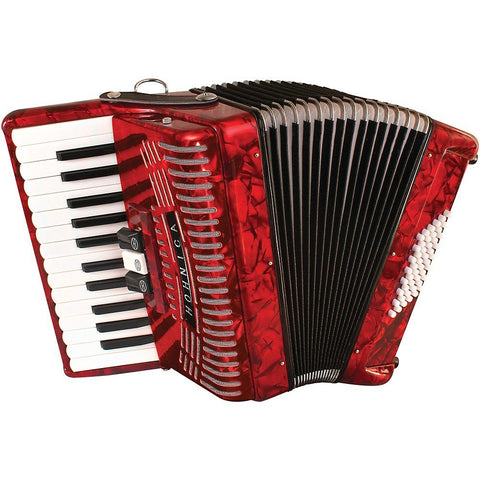 Hohner 48 Bass Piano Accordion With Gig Bag And Strap 1304-RED