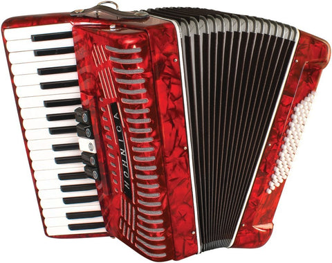 Hohner 72 Bass Piano Accordion 1305-RED