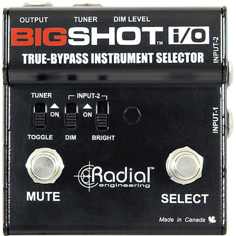 Radial BigShot i/o True Bypass Effects Switcher
