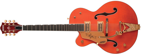 Gretsch G6120LH Chet Atkins Hollow Body, Left-Handed,  Ebony Fingerboard, Orange Stain, with Bigsby 2401220822 - L.A. Music - Canada's Favourite Music Store!