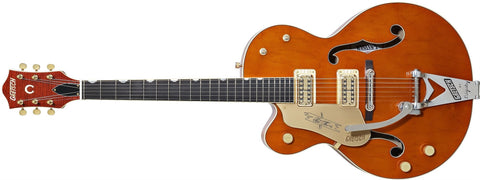 Gretsch G6120-1959LH-TV Chet Atkins Hollow Body, Left-Handed, Ebony Fingerboard, Vintage Orange, with Bigsby 2401252822 - L.A. Music - Canada's Favourite Music Store!