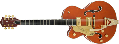 Gretsch G6120TLH Players Edition Nashville with Bigsby, Left-Handed, Filter'Tron Pickups, Orange Stain