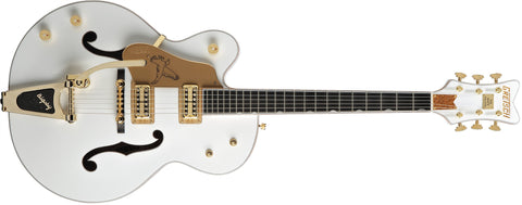 Gretsch G6136TLH White Falcon, Left-Handed, Ebony Fingerboard, White, with Bigsby 2401421805 - L.A. Music - Canada's Favourite Music Store!