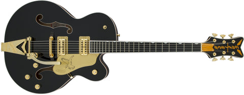 Gretsch G6136T-BLK Players Edition Falcon with String-Thru Bigsby, Filter'Tron Pickups, Black 2401502806 - L.A. Music - Canada's Favourite Music Store!
