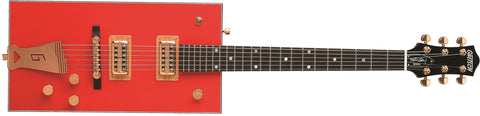 "Gretsch G6138 Bo Diddley, ""G"" Cutout Tailpiece, Ebony Fingerboard, Firebird Red 2410102815 - L.A. Music - Canada's Favourite Music Store!"