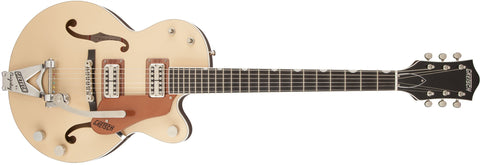 Gretsch G6112TCB-JR Center Block Jr. with Bigsby, 2-Tone Jaguar Tan and Copper Metallic 2410900800 - L.A. Music - Canada's Favourite Music Store!