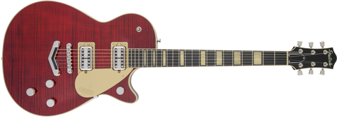Gretsch  G6228FM Players Edition Jet BT with V-Stoptail Flame Maple Ebony Fingerboard Crimson Stain