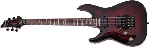 Schecter Omen Elite-6 Left Handed Floyd Rose Electric Guitar Black Cherry Burst 2460-SHC
