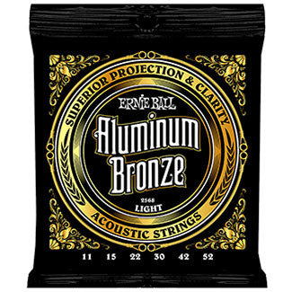 Ernie Ball Aluminum Bronze Light Acoustic Guitar Strings EBP02568