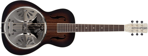 Gretsch G9220 Bobtail Round-Neck A.E., Mahogany Body Spider Cone Resonator Guitar, Fishman Nashville Resonator Pickup, 2-Color Sunburst 2716010503 - L.A. Music - Canada's Favourite Music Store!