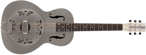 Gretsch G9201 Honey Dipper Round-Neck, Brass Body Biscuit Cone Resonator Guitar, Shed Roof Finish 2717010000