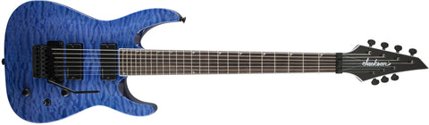 Jackson SLATXSDQ 3-7 Soloist, Rosewood Fingerboard, Transparent Blue 2916171586 - L.A. Music - Canada's Favourite Music Store!