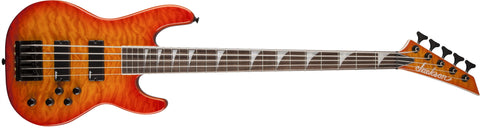 Jackson JS3VQM Concert Bass, Rosewood Fingerboard, Transparent Amber 2919020520 - L.A. Music - Canada's Favourite Music Store!