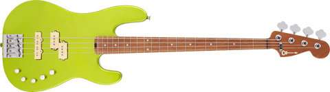 Charvel Pro-Mod San Dimas Bass PJ IV Caramelized Maple Fingerboard Lime Green Metallic 2965068518