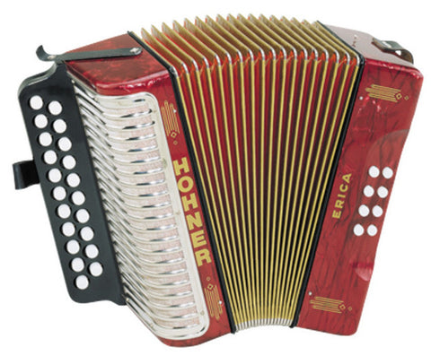 Hohner Erica Doublerow Accordion A D - L.A. Music - Canada's Favourite Music Store!