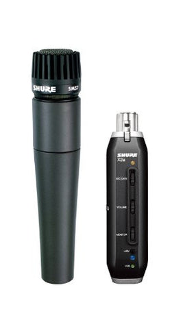 Shure SM57 X2U Handheld Dynamic Microphone with USB Signal Adapter