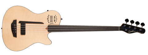 Godin Guitars A4 ULTRA Natural SG Fretless EN SA Semi Acoustic Bass w/ Synth Access GDN-033645 - L.A. Music - Canada's Favourite Music Store!