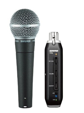 Shure SM58 X2U Handheld Dynamic Microphone with USB Signal Adapter