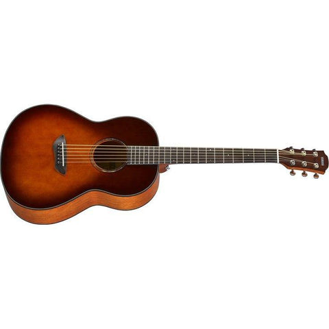 Yamaha CSF1M Solid Top Parlour Acoustic Electric Guitar in Tobacco Burst