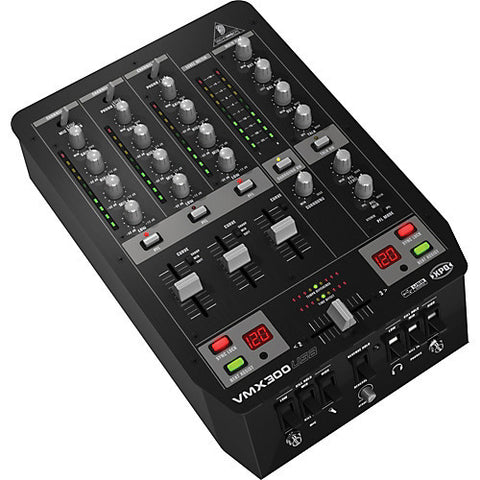 Behringer VMX300USB Professional 3-Channel DJ Mixer  With USB Audio Interface  BPM Counter  VCA Control and Massive Software Bundle - L.A. Music - Canada's Favourite Music Store!