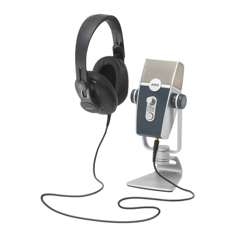 AKG Podcaster Essentials Lyra USB Microphone And K371 Headphones 5122010-00