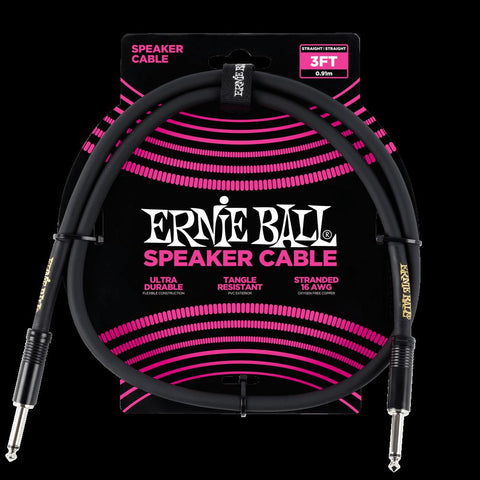 Ernie Ball 3 Speaker Cable - Black