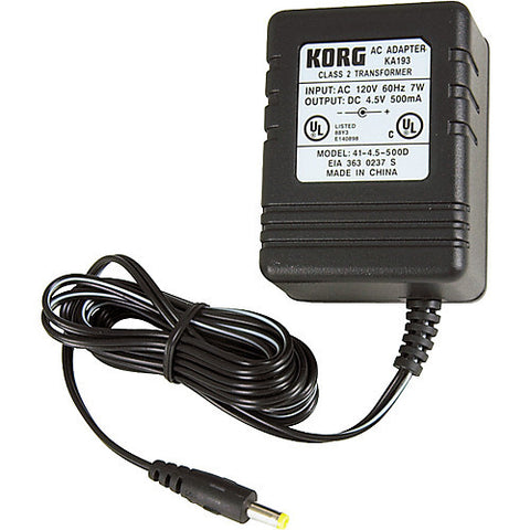 Korg KA193 4.5V Adapter for PX4, PX4B, and PXR4 - L.A. Music - Canada's Favourite Music Store!