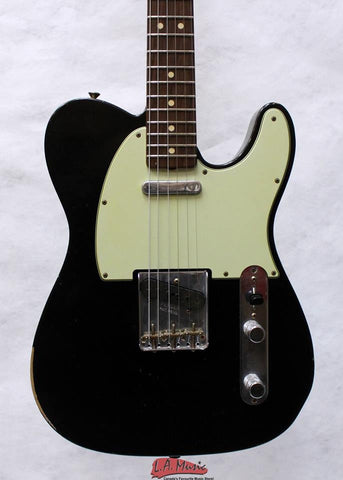 Fender Custom Shop 1963 Relic Telecaster Faded Black 9231999806 - L.A. Music - Canada's Favourite Music Store!