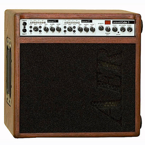 AER Acousticube 3 OMH Mahogany Stained Oak Amplifier - L.A. Music - Canada's Favourite Music Store!