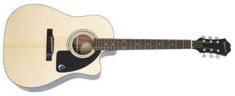Epiphone AJ-100CE Acoustic/Electric Dreadnought - Natural AJ100CENACH - L.A. Music - Canada's Favourite Music Store!