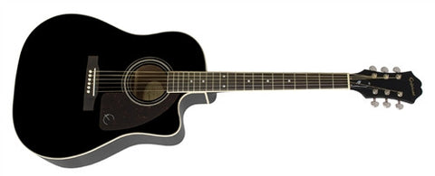 Epiphone AJ-220SCE Solid Spruce Top with Cutaway Ebony AJ220SCEEBNH - L.A. Music - Canada's Favourite Music Store!