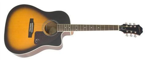 Epiphone AJ-220SCE Solid Spruce Top with Cutaway Vintage Sunburst AJ220SCEVSNH - L.A. Music - Canada's Favourite Music Store!