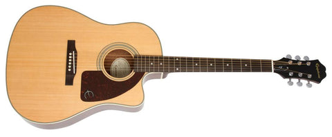 Epiphone AJ-210CE Acoustc Electric Outfit with Hard Case NATURAL - L.A. Music - Canada's Favourite Music Store!