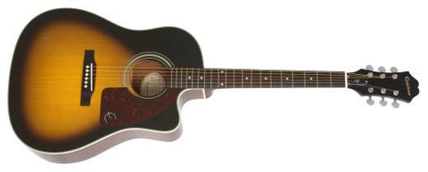 Epiphone AJ-210CE Acoustc Electric Outfit with Hard Case Vintage Sunburst