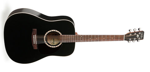 Art & Lutherie Cedar Black Dreadnaught Acoustic Guitar 013876