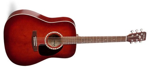 Art & Lutherie Spruce Burgundy QI Acoustic Electric Guitar 023646 - L.A. Music - Canada's Favourite Music Store!
