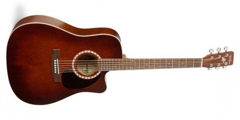 Art & Lutherie Cutaway Cedar Antique Burst QI Acoustic Electric Guitar 023677