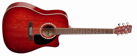 Art & Lutherie Cutaway Spruce Burgundy QI Acoustic Electric Guitar 023707