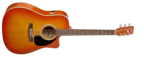 Art & Lutherie Cutaway Cedar Sunrise QI Acoustic Electric Guitar 023721