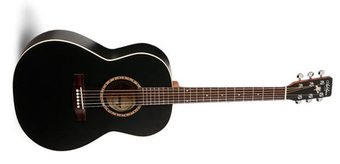 Art & Lutherie Folk Cedar Black QI Acoustic Electric Guitar 032976