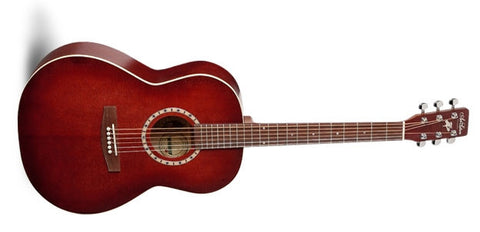 Art & Lutherie Folk Spruce Burgundy QI Acoustic Electric Guitar 032990