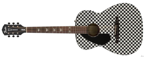 Fender FSR LIMITED EDITION Tim Armstrong Hellcat Checkerboard Left Handed Acoustic Guitar