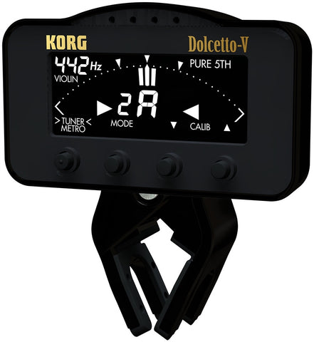 Korg Dolcetto ClipOn Tuner/Metronome for Violin/Viola AW3V - L.A. Music - Canada's Favourite Music Store!