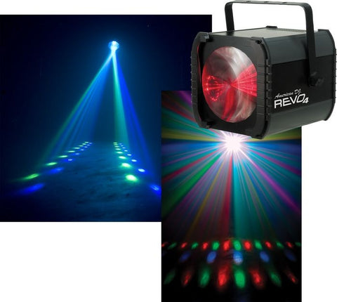 American DJ REVO4 DMX Moonflower/Strobe Fixture with 256x5mm RGBW LED - L.A. Music - Canada's Favourite Music Store!