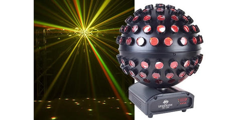 American DJ SPHERION TRI LED DMX Rotating Ball Centerpiece with 5x3W TRI RGB LED Source - L.A. Music - Canada's Favourite Music Store!